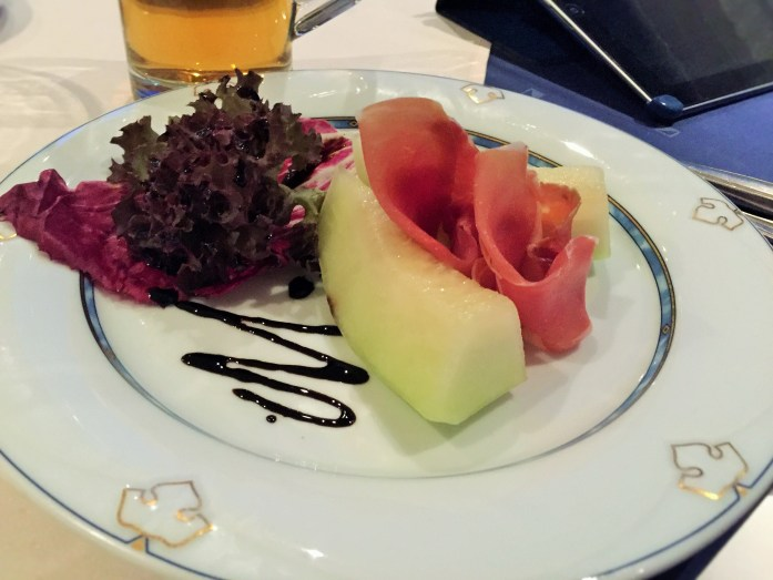 Honey-melon with Parma ham, rucolla lettuce, and a drizzle of balsamic vinegar - ©The Music Producer - Frank Böster
