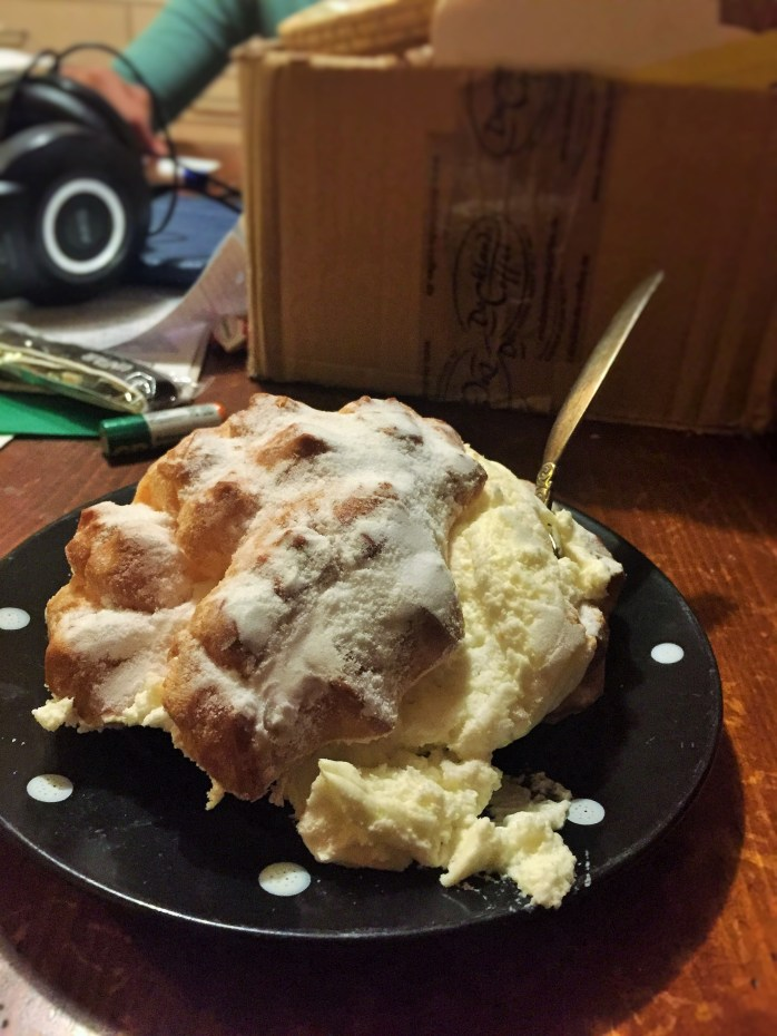 A frightfully enticing profiterole, choux à la crème, a cream puff or simply in Germany, a windbeutel!