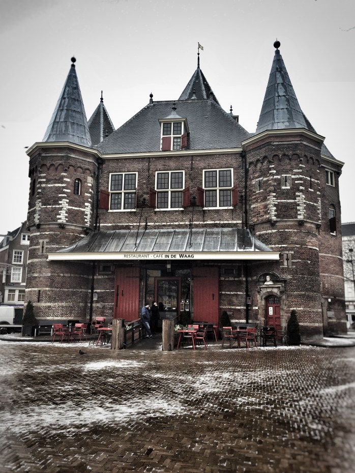 Waag; Amsterdam Waag; weighing house; Amsterdam weighing house; 15th-century building; Nieuwmarkt Square; Amsterdam; Holland; Netherlands; Europe; travel; family travel;