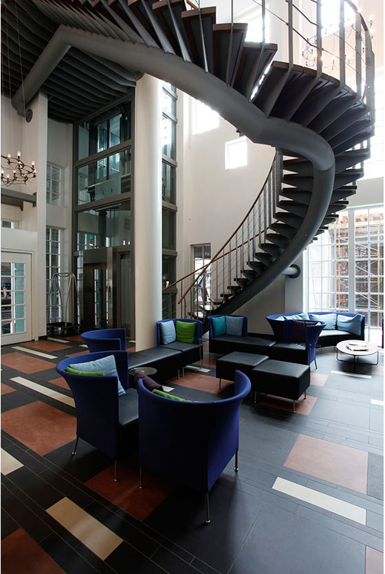 The lobby at the Inntel Hotels Amsterdam Zaandam, was pretty nice!