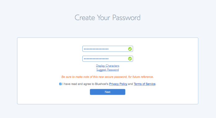 You can use the Password Generator to create a strong and secure password, or create one yourself.