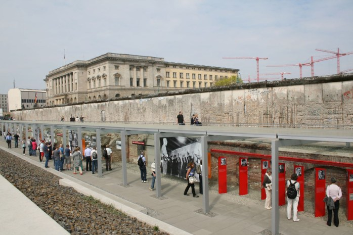 The Topography of Terror; Topography of Terror; Topography; Terror; After the Fall of the Berlin Wall; Berlin Wall; Mauerfall; Brandenburg Gate; Brandenburger Tor; Gate; Tor; Brandenburg; Berlin; Germany; Federal Republic of Germany; Festival of Lights; Freedom; Identification; FRG; GDR; DDR; German; German Democratic Republic; Reunification; German Reunification; Nur Mit Euch; Only With You; October 3rd; 1989; Tag der Deutschen Einheit; der Deutschen Einheit; Deutschen Einheit; Deutsche; Deutsche; East Germany; West Germany, the Germans; Germans; die Deutschen; Mauer; After the Fall of the Berlin Wall; Europe; Travel;