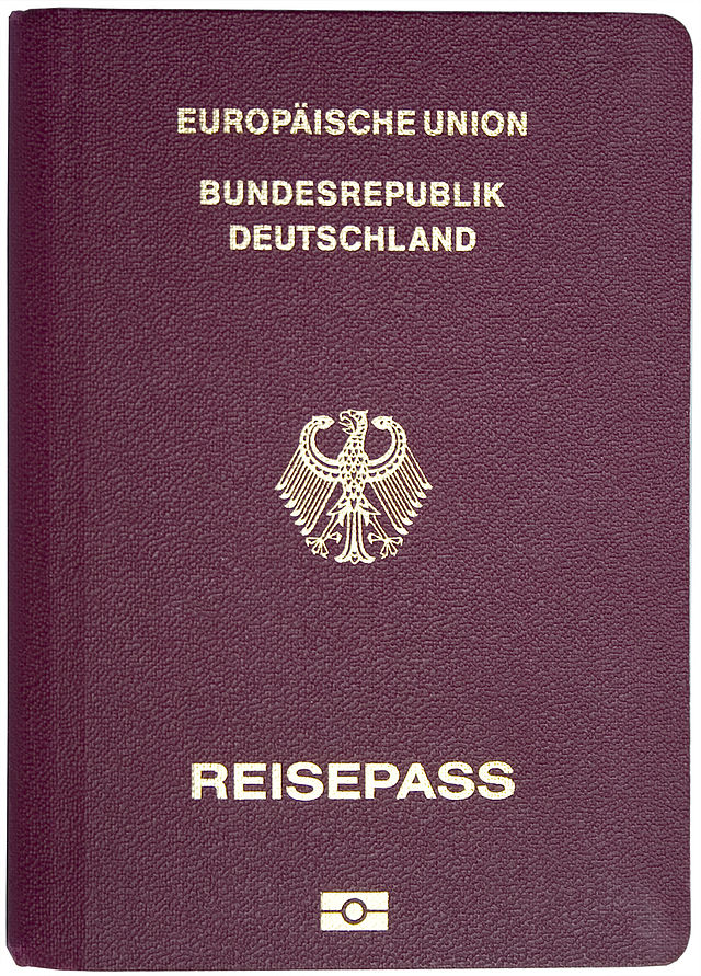 After all that hard work, here's a biometric German / Deutsch passport / Reisepass document for ya!