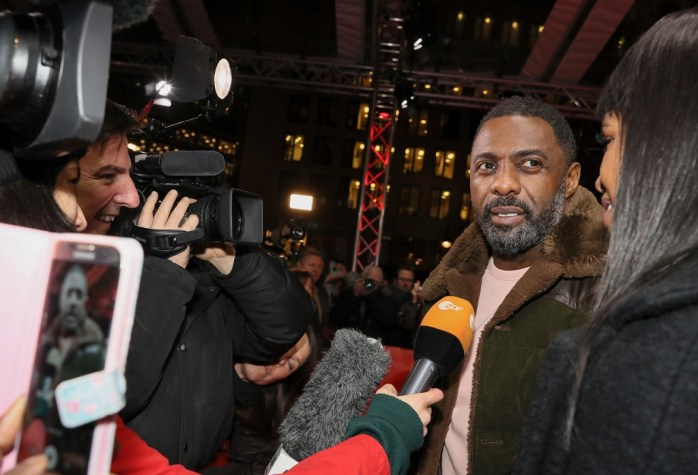 Idris Elba at the Berlinale; the Berlin International Film Festival - Director - Yardie 2018. You can just about see my pink phone cover! © Internationale Filmfestspiele Berlin