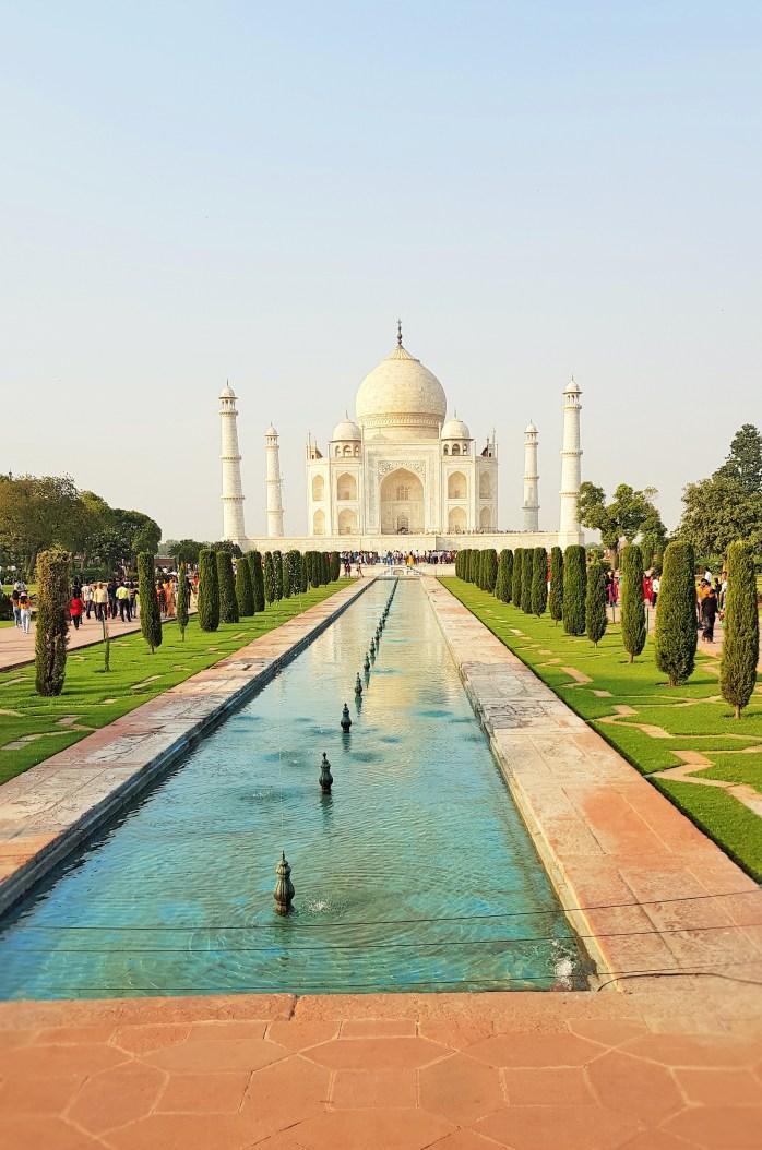 Facing the Taj Mahal in Agra, India