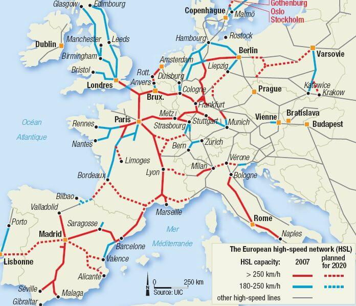 A map of the European High - Speed Train Network; European high-speed train network; map of European network; high speed train network; map of high-speed train; train network; European train network; European map; map; train map; how to use the train in Europe 2019: 10 tips to help you; how to use the train in Europe: 10 tips to help you; how to use the train in Europe; how to use the train in Europe 2019; how to use the train; how to use the European train; how to use Deutsche Bahn; how to use the European railway; how to use the railway; how to use the German train; how to use the Polish train; how to use the Hungarian train; how to use the French train; how to use the Czech train; how to use the Spanish train; how to use the UK train; how to use British trains; how to use trains in the UK; how to use trains in Britain; how to buy train tickets; how to buy train tickets on European trains; how to buy train tickets in Europe; how to get on the train; 10 tips to help you; tips to help you, a train guide; a railway guide; a European train guide; a European railway guide; taking the train in Europe; train station; station; railway; European train; train; trains in Europe; European railway; at the railway; long train journey; train travel; travel by train; travel; European; Europe;