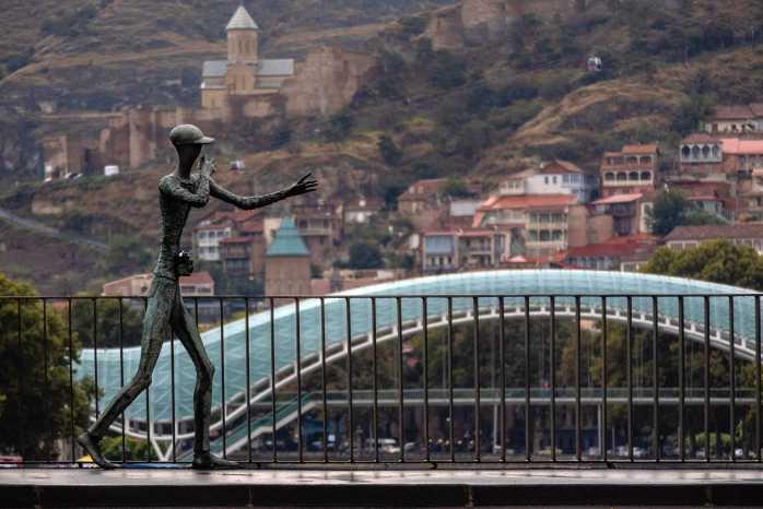 Tbilisi; Tbilisi City Hall; City of Tbilisi; Georgia; Georgian; Caucasus; Europe; European; travel; statues; art; modern art; Georgian modern art; modern art in Georgia;