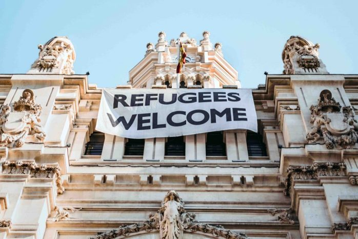 refugees welcome; refugees; welcome; racism in Europe; racism; black lives matter; black lives; black people; people of colour; non-white people; prejudice; discrimination; intolerance; stop killing us; black empowerment; black pride; Europe; Spain; Madrid; Barcelona; all races; unity; racial injustice; blm; tolerance; peace;