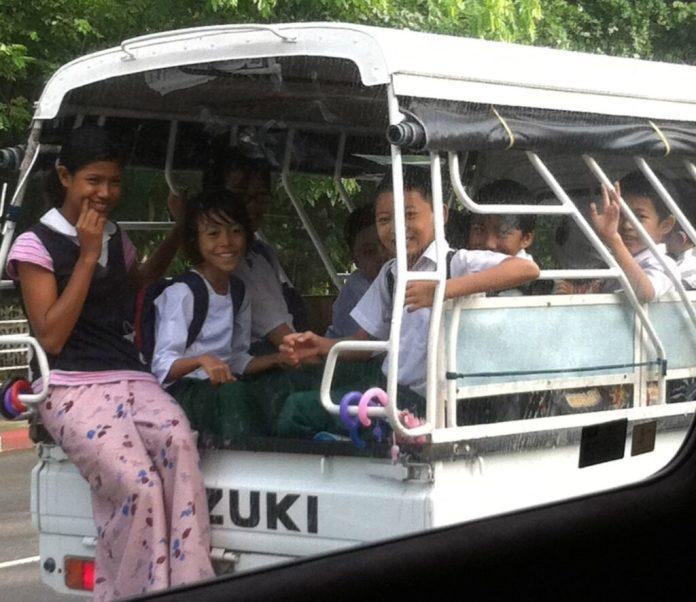 Kids at Myanmar