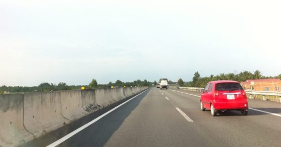 On Trung Luong highway going back to Ho Chi Minh City.