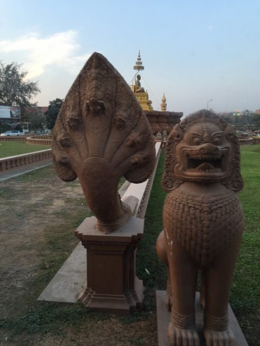 the iconic statues of Cambodia, found in Phnom Penh city
