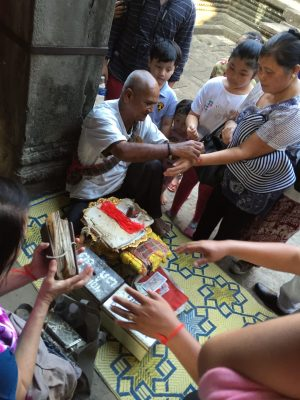 A fortune teller at Angkor Wat, Siem Reap