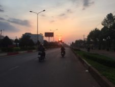 At Binh Phuoc, on the way to home