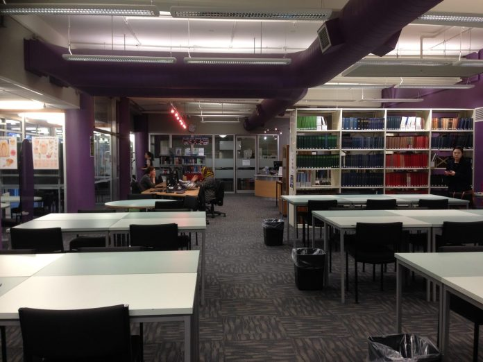 the library of School of Dentistry in Otago University