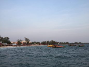 Sihanoukville beach, a view from the 'happy boat'