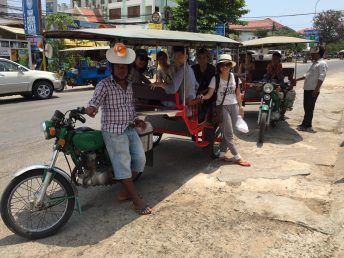 Tuk-tuk, a common transportation that you can find in Cambodia.
