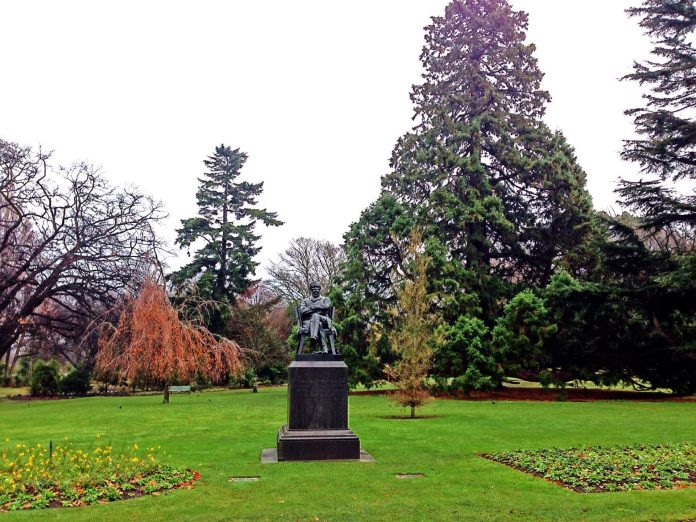 A statue in Hagley Park, New Zealand