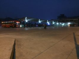 we came to Ha Giang city's bus station at 4:45 a.m. ..