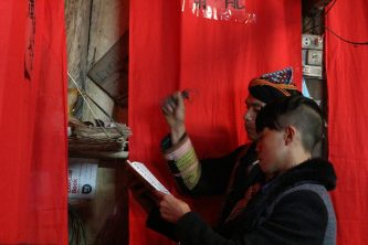 The Broad Life joined wedding of Red Dao people at Ta Phin village, Sapa, Vietnam