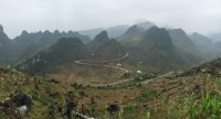 the way which takes us to Ha Giang city