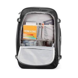 Inside AmazonBasics Travel Backpack