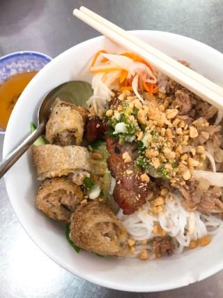 Bún Thịt Nướng (Rice Noodles with Grilled Pork), saigon food, vietnamese cuisine