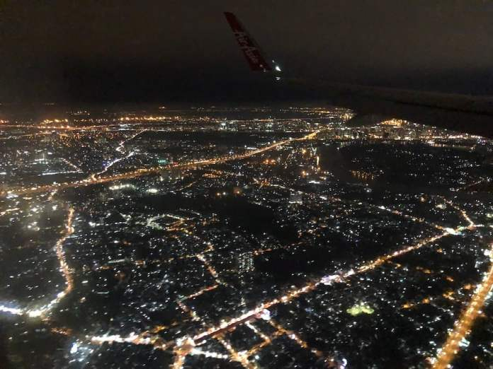 This is Ho Chi Minh City, Vietnam. The night flight ended my trip from Singapore to Malaysia