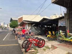 Renting bicycle to fully experience George Town