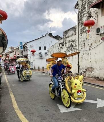 funny bikes at malacca, malaysia