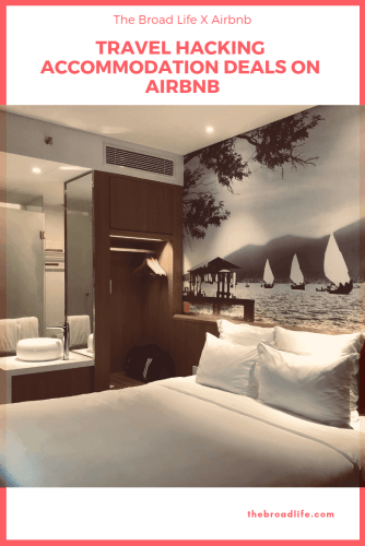 Pinterest Board of Travel Hack Accommodation Deals on Airbnb - The Broad Life