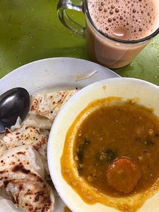 Indian food in George Town penang, malaysia