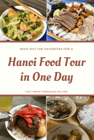 Pinterest Board of Hanoi Food Tour in One Day - The Broad Life