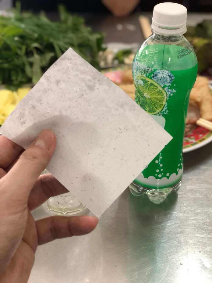 Nha Trang tissue paper, and the popular drink, sweet mineral water