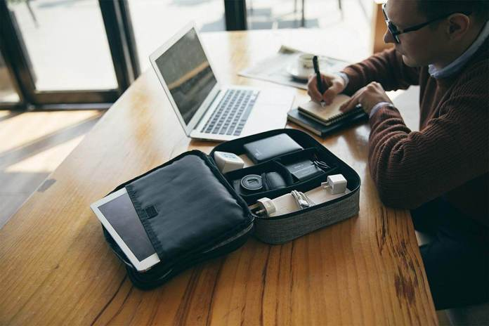 An organizer can help to arrange iPhone products and accessories easily