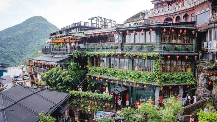 A Mei Tea House at Jiufen Old Street, Taipei, Taiwan