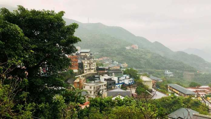 Jiufen village with view from the above