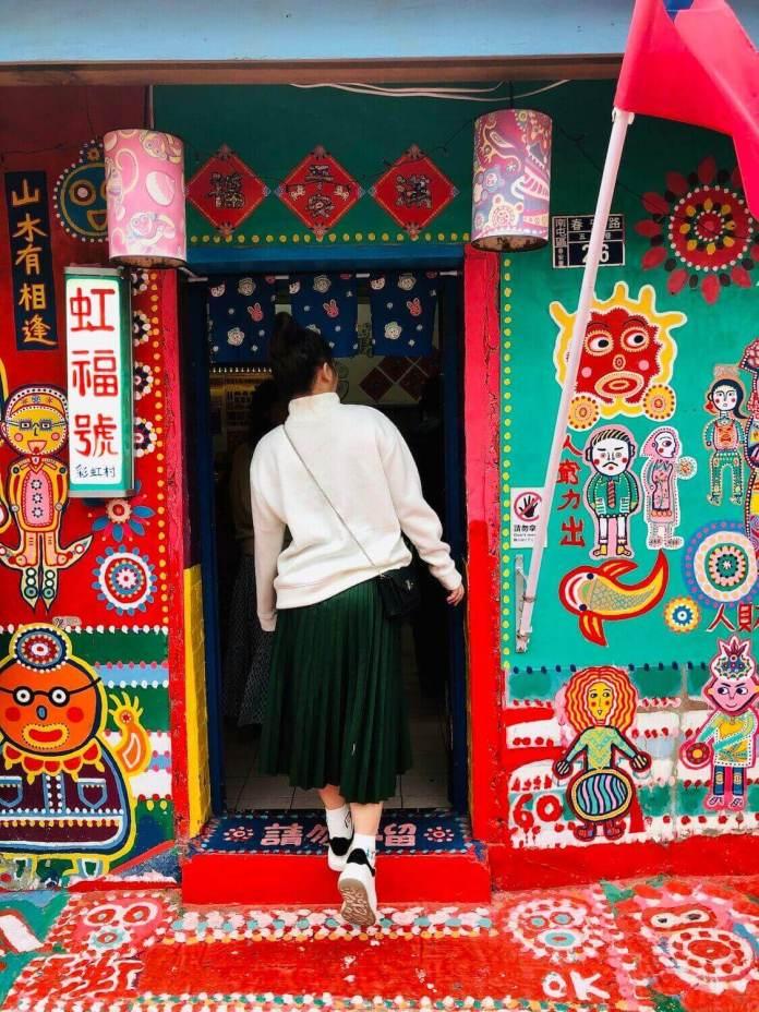 visiting Rainbow village at Taichung