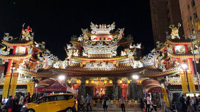 Songshan Ciyou Temple at the entrance of Raohe St. night market
