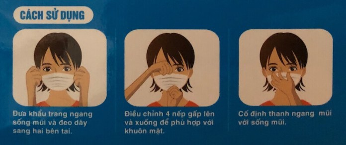 A guide to use medical mask in Vietnamese to prevent coronavirus