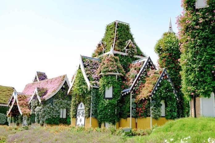 A flower house in Dubai Miracle Garden