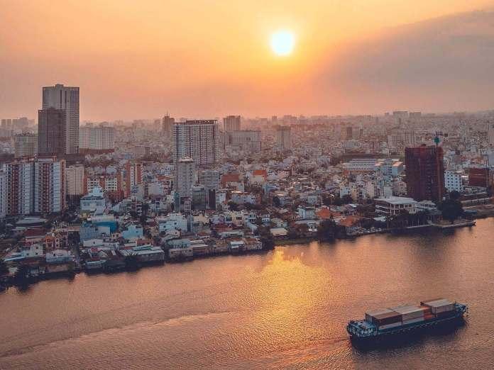 View of Saigon river