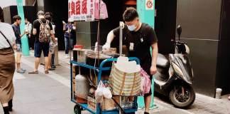 Smelly foods Stinky Tofu in Taipei