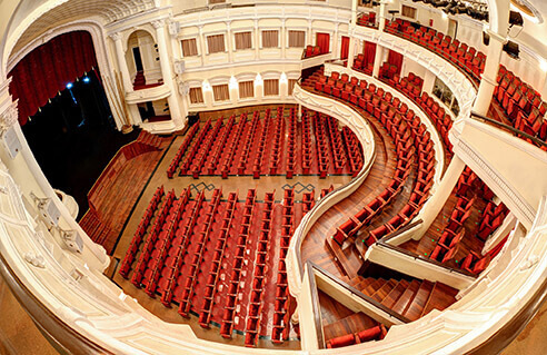 Inside the municipal theatre of Ho Chi Minh City.
