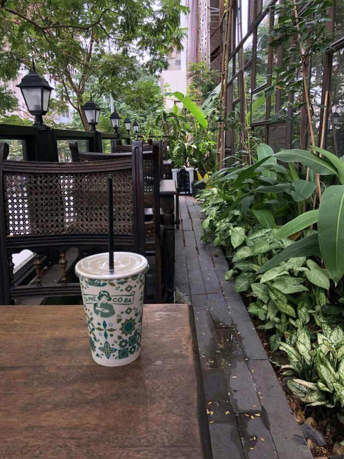 Co Ba Sai Gon's balcony