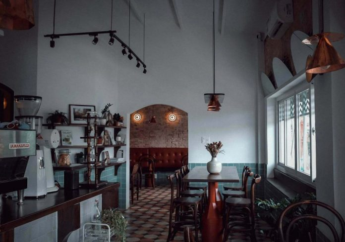 Okkio Caffe at 122 Le Loi street, one of the most beautiful coffee shops in Saigon