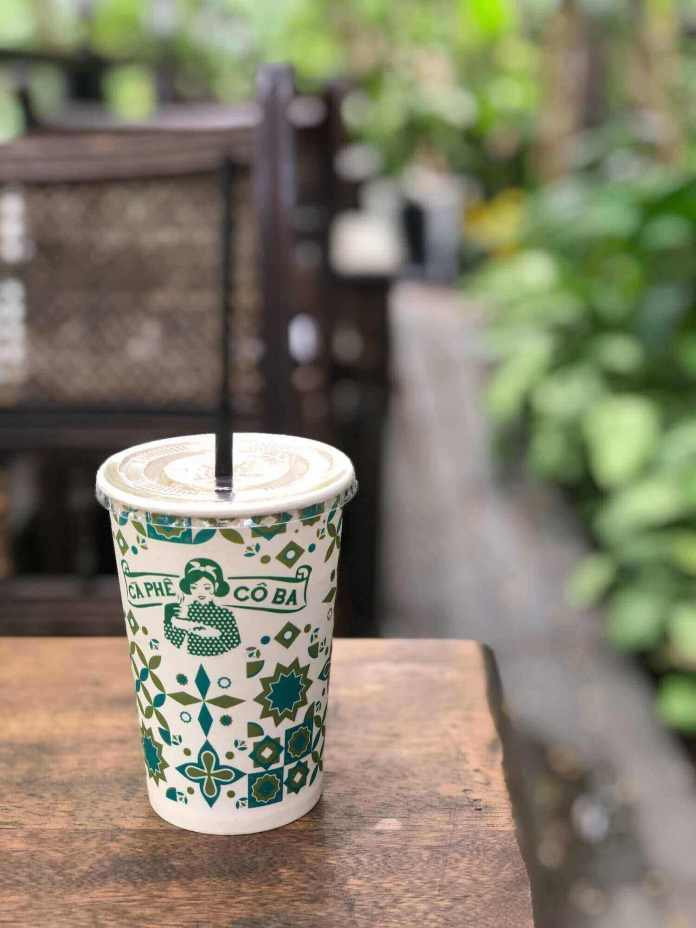 A coffee cup of Co Ba Sai Gon