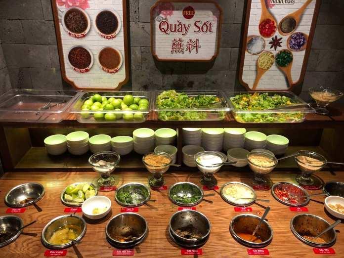 The sauce bar of Hutong