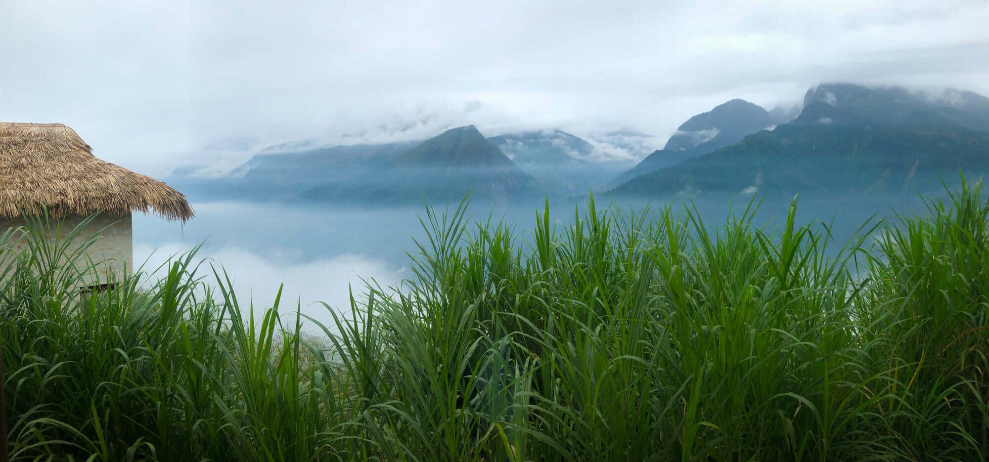 mountain landscape from Topas Ecolodge Sapa