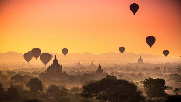 Bagan, an ancient city in Mandalay Region of Myanmar