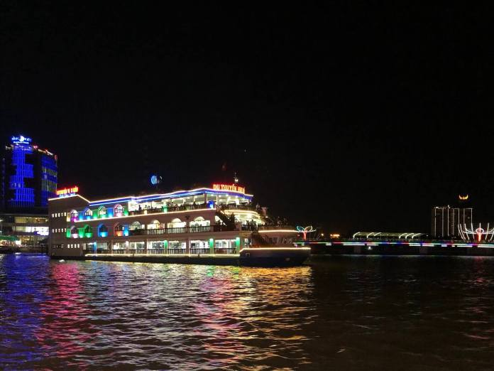 Dinner on a ship at Ninh Kieu, Can Tho - one of my travel destinations in 2020